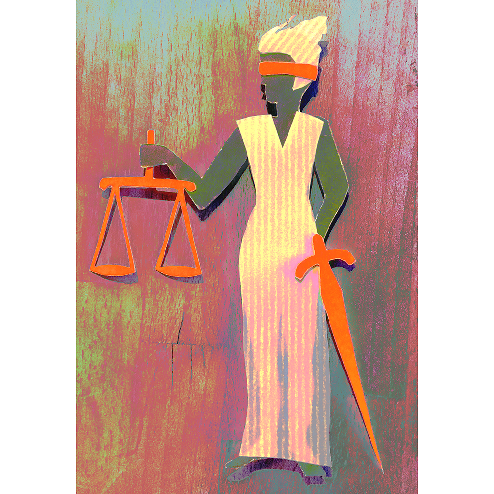 Illustration of Lady Justice